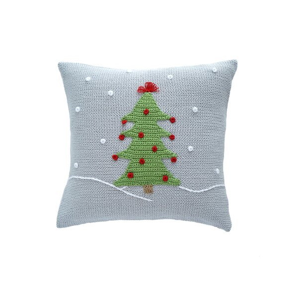 Christmas Tree Snow 100% Cotton Throw Pillow by The Holiday Aisle